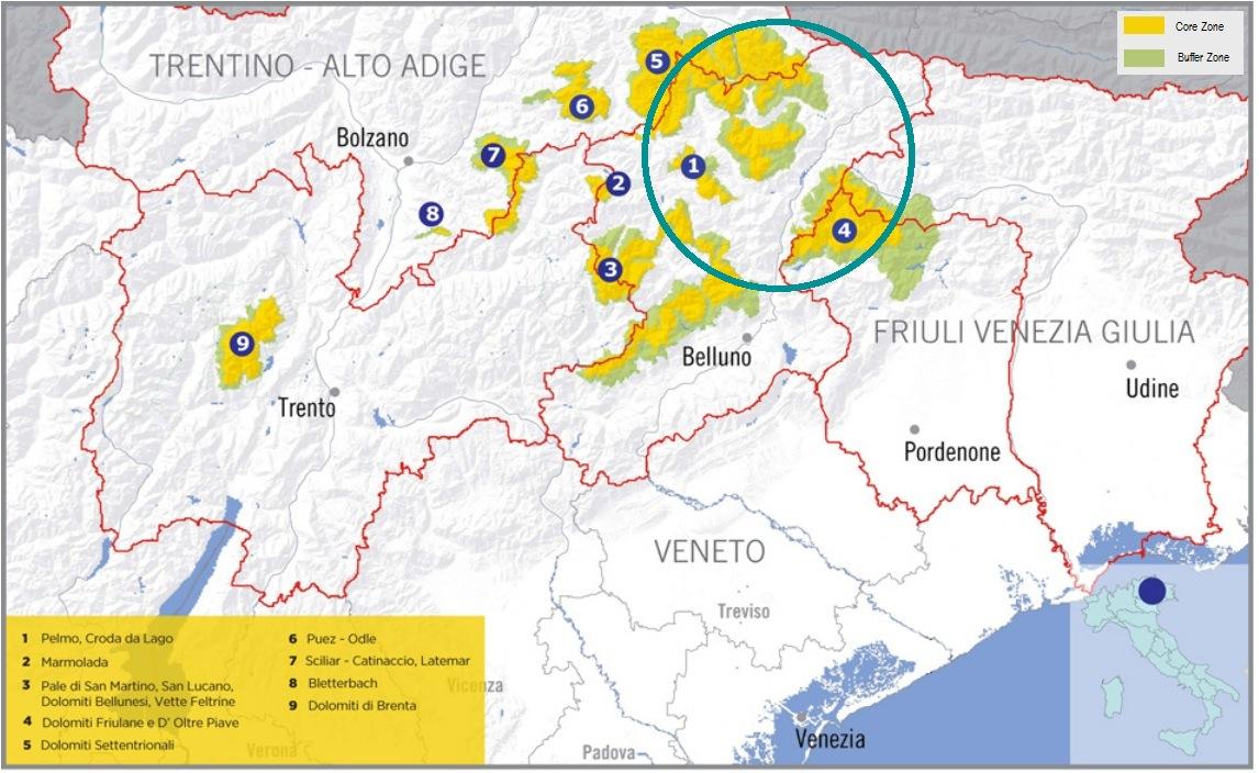 Cartina Geografica Dolomiti.Cartina Cadore Dolomiti Magic Land